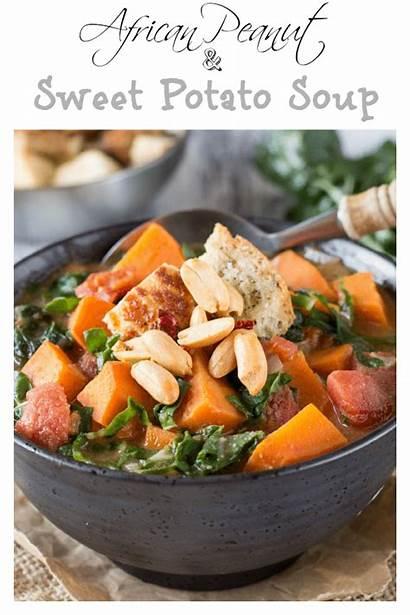 Soup Peanut Potato Sweet African Healthy Simple
