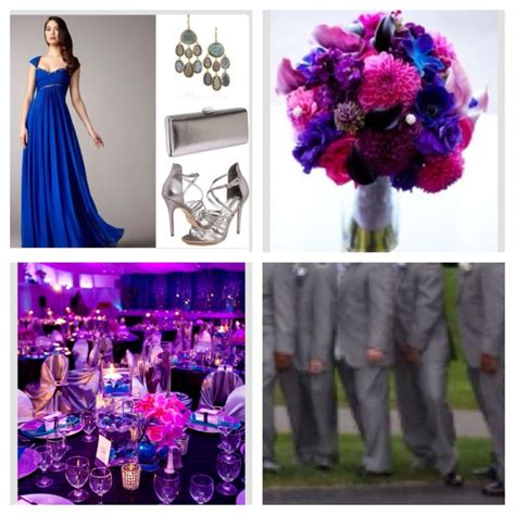 Wedding Pallet Cobalt Blue Fuchsia Royal Purple With