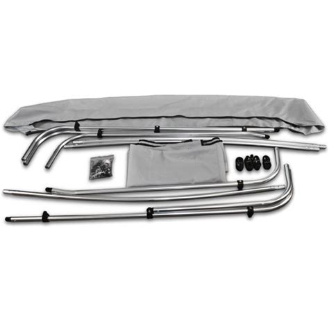 Boat Covers Direct Reviews by 4 Bow Bimini Pontoon Deck Boat Cover Top 91 96 Grey 8 Ft
