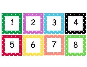 Polka Dot Numbers Cards 1100 By Sara Cooper  Teachers Pay Teachers