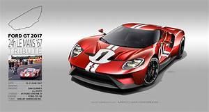 24h Le Mans 2017 : 2017 ford gt 66 99 24h le mans tribute renders ford gt forum ~ Medecine-chirurgie-esthetiques.com Avis de Voitures