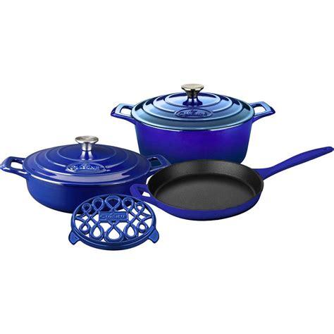 cuisine pro la cuisine pro 6 enameled cast iron cookware set