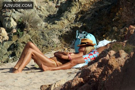 Heidi Klum Topless At A Beach In Italy Aznude