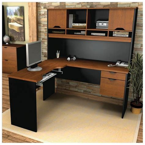 l shaped oak computer desk oak corner computer desk with hutch home office desk