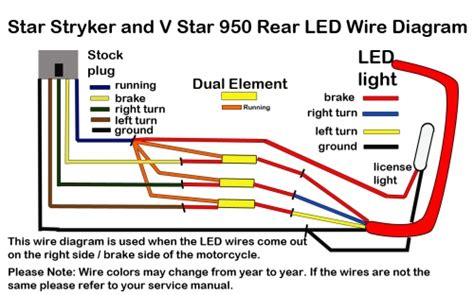 Ducati Led Light Wiring Diagram by Stryker Led Brake Light And License Plate Kit Low And