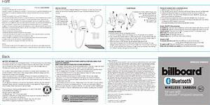 Kingray Electronics Bb896 Bluetooth Earphone User Manual