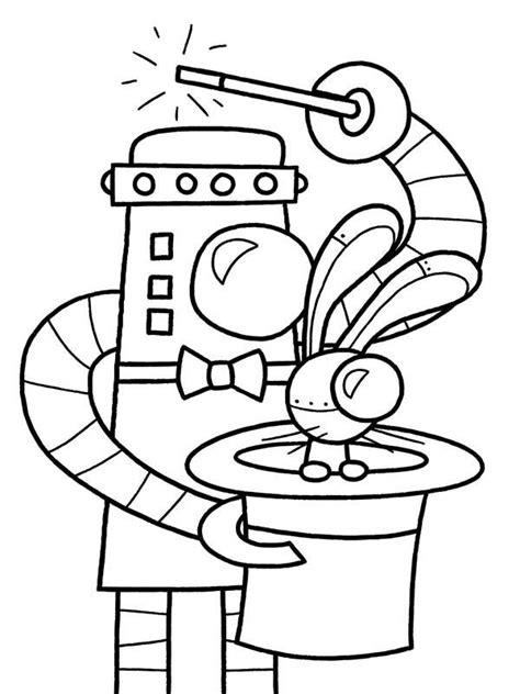 robots coloring pages   print