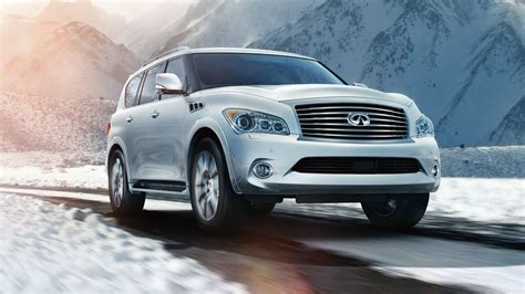 Infiniti Qx80 Wallpapers by 2014 Infiniti Qx80 Suv Car Front View Driving 2014