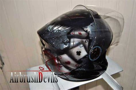 Airbrushed Motorcycle Helmet Batting Design Personalize