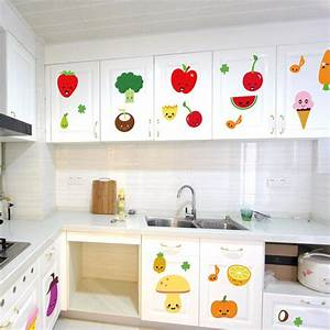 Cute kitchen wall decor kitchen decor design ideas for What kind of paint to use on kitchen cabinets for vinyl wall art stickers