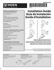 Moen Kitchen Faucet Installation Directions
