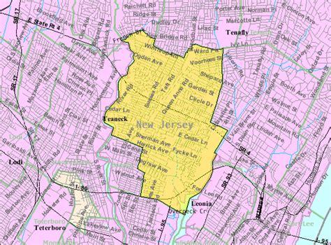 the bureau of census file census bureau map of teaneck jersey png
