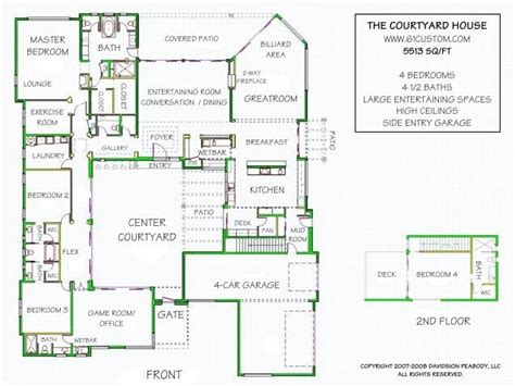 pin  allison   sims courtyard house plans courtyard house house plans