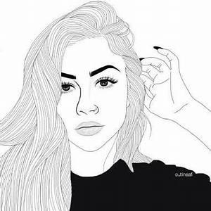 779 Besten Tumblr Outlines Bilder Auf Pinterest Mädchen Zeichnen