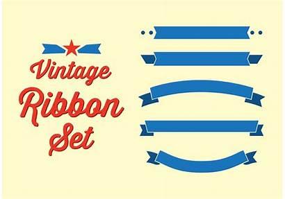 Banner Vector Ribbon Retro Vectors Text Clipart