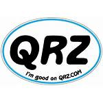 Qrz Sticker Radio Ham Callsign Login Bumper