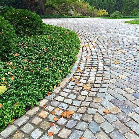 driveway swale cobble swale driveway designs pinterest ps
