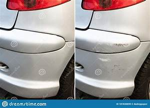 Car Dent Repair Before And After Stock Image