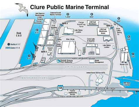 Duluth Seaway Port Authority Harbor Map Illustration