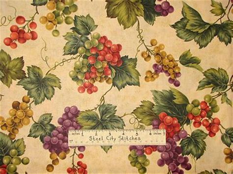 fabrics with grapes and wines theme   Vineyard Grape Vine