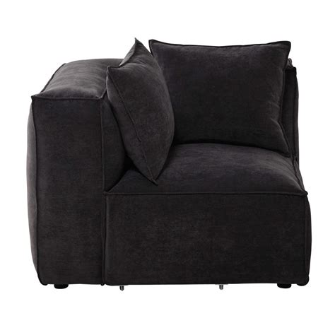 canapé tissu maison du monde angle de canapé modulable en tissu gris ardoise rubens