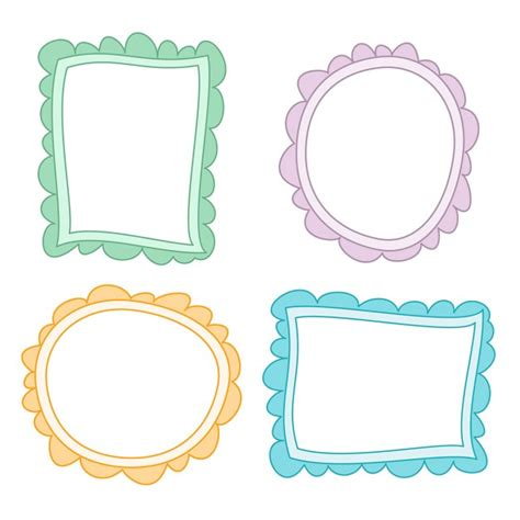 You can copy, modify, distribute and perform the work, even for commercial purposes, all without asking permission. 4 cute hand drawn frames | Free Vector