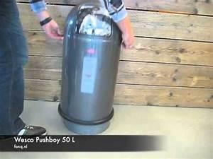 Wesco Abfallsammler Push Two : wesco pushboy 50 l youtube ~ Bigdaddyawards.com Haus und Dekorationen