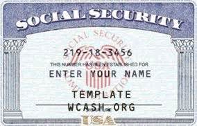 ssn template editable photoshop file psd driver license