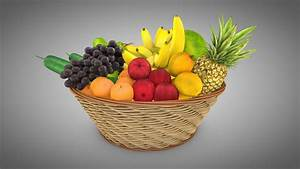3d, Asset, Fruits, Basket