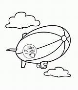 Coloring Pages Transportation Airship Wuppsy Printables Ship Airplane Tags Find sketch template