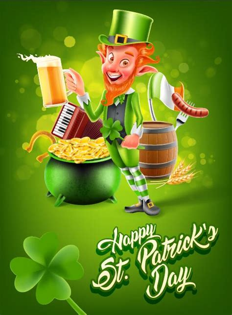 Day Poster Template by St Patricks Day Poster Template Vector 02 Free