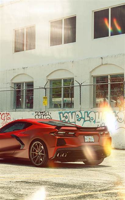 Corvette Wrapped C8 8k Vossen Rear Wallpapers