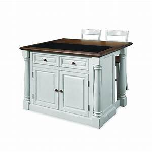 home styles monarch white kitchen island with seating With home depot kitchen furniture island