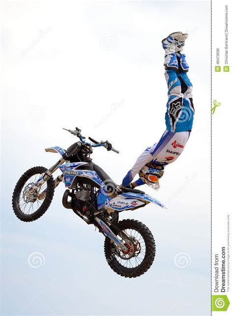 A Professional Rider At The Fmx (freestyle Motocross