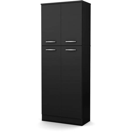 kitchen storage cabinets walmart south shore smart basics 4 door storage pantry 6151