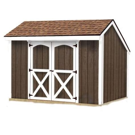 Home Depot Storage Sheds Kits by Best Barns Aspen 8 Ft X 10 Ft Wood Storage Shed Kit