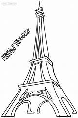 Eiffel Tower Coloring Pages Paris Drawing Printable Easy Torre Cool2bkids France Drawings Simple Para Template Monuments Historical Imagenes Printables Tour sketch template