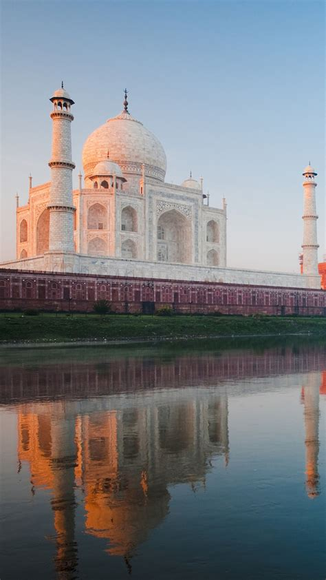wallpaper taj mahal yamuna river india  world
