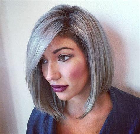 graue haare frisuren vorschläge k 252 hle haarfarben in mehr als 70 fotos