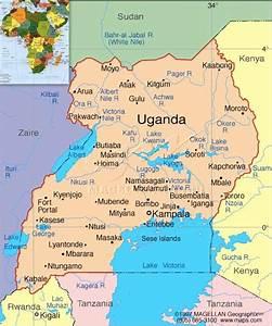 Kaart Oeganda Met Inzet Afrika Pictures