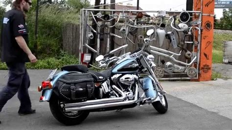 softail heritage classic sound vh big shot long