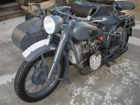 Bmw R-71 Motorcycle Clone With Sidecar