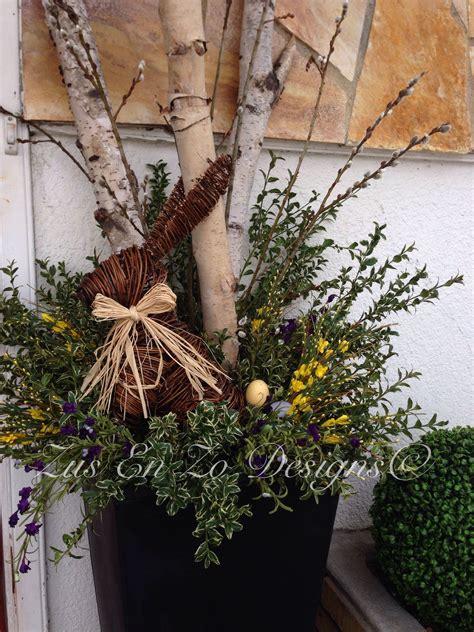 spring planter easter spring planter easter porch
