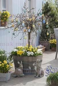 Deko Hauseingang Frühling : holzfass bepflanzt mit salix caprea 39 pendula 39 kaetzchenweide fruehling auf deck weide im ~ Watch28wear.com Haus und Dekorationen