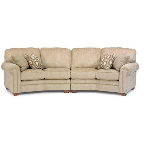 Conversation Loveseat by Flexsteel 7271 325 Harrison Fabric Conversation Sofa
