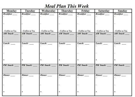 trim healthy mama weekly food log template meal planning sheet helpful hints and projects