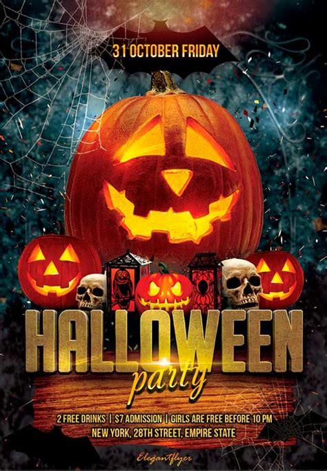free printable halloween flyer free flyer psd template psd