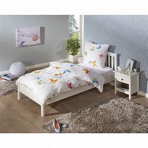 Bett 90x200 Weiß Massiv : bett luis 90x200 kiefer wei lackiert d nisches bettenlager ~ Bigdaddyawards.com Haus und Dekorationen