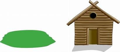 Shack Clipart Clip Wooden Vector Cliparts Clker