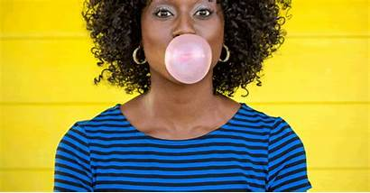 Gum Bubble Woman Way Remove Face Naturallycurly